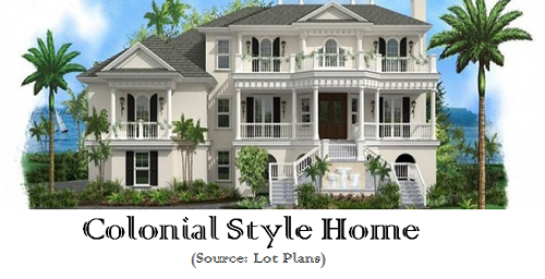 Modest elegance of colonial style dream homes - Elegant colonial architectural designs ...