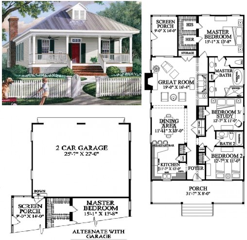 colonial gouse plans
