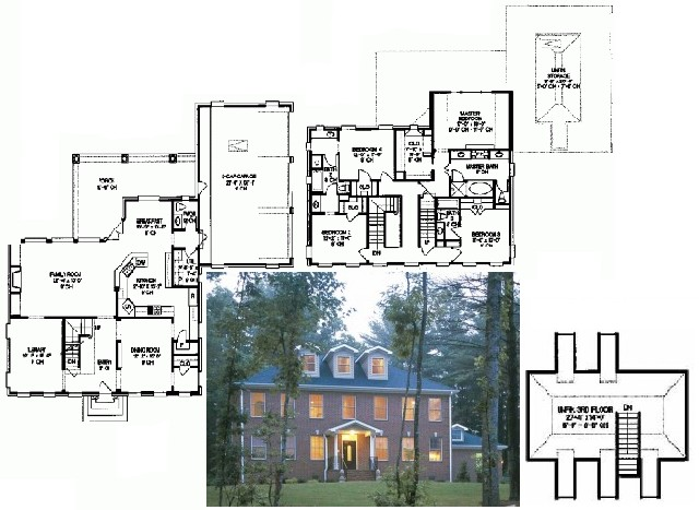 Georgian style house plans images Colonial style homes floor plans
