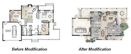 house plan modification
